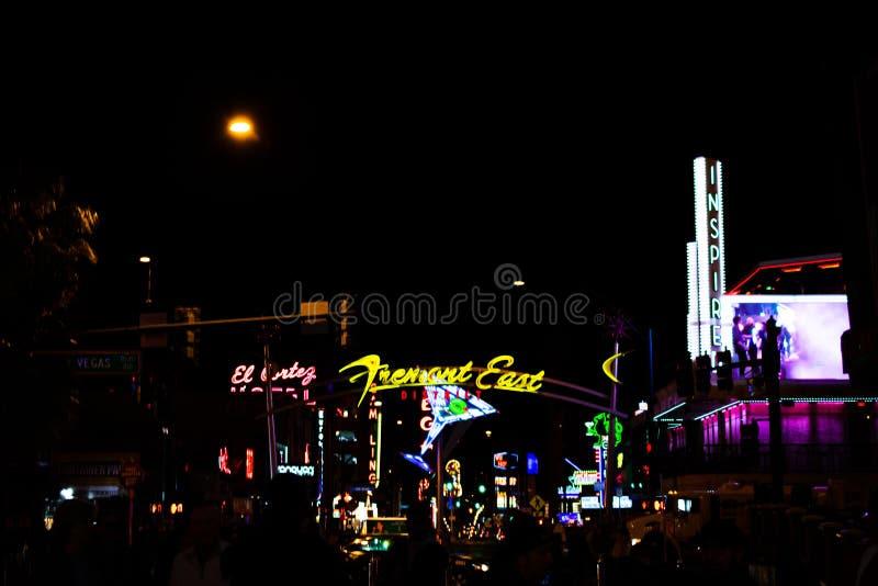 Het Teken van het Fremontoosten in Las Vegas royalty-vrije stock fotografie