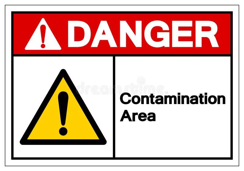 Het Teken van het het Gebiedssymbool van de gevaarsverontreiniging, Vectorillustratie, isoleert op Wit Etiket Als achtergrond EPS vector illustratie