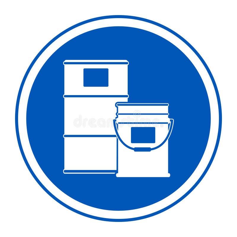 Het Teken van het het Gebiedssymbool van de verftrommel isoleert op Witte Achtergrond, Vectorillustratie EPS 10 stock illustratie