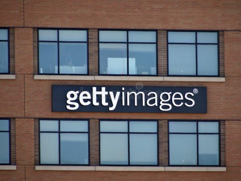 Het Teken van Gettybeelden aan kant van de Bouw stock foto