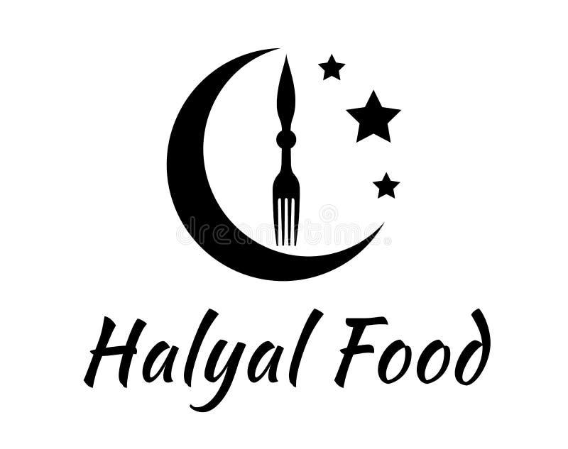 Het teken van het Halalvoedsel royalty-vrije illustratie