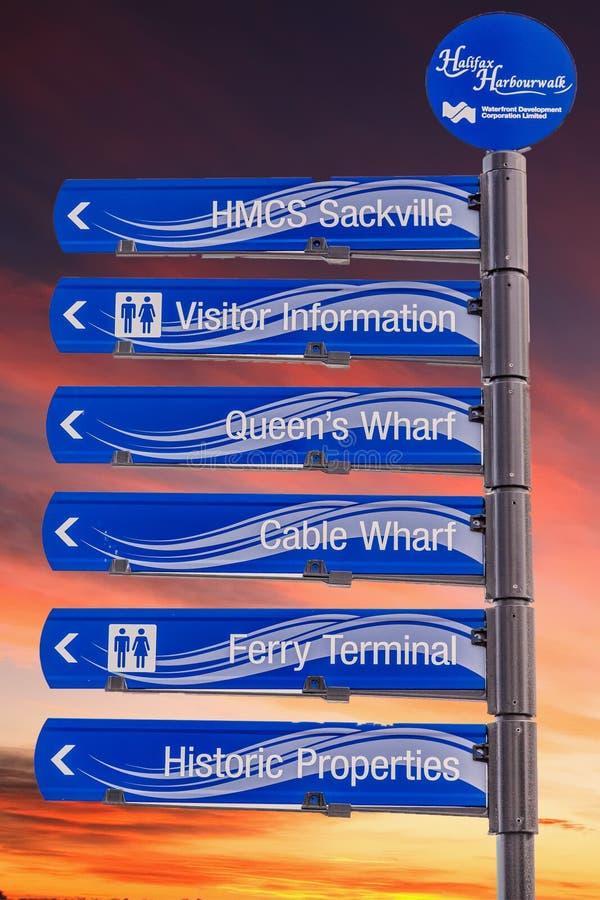Het Teken van Halifax Harborwalk stock afbeelding