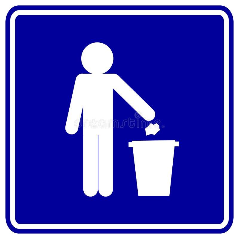 Het teken van het afval vector illustratie