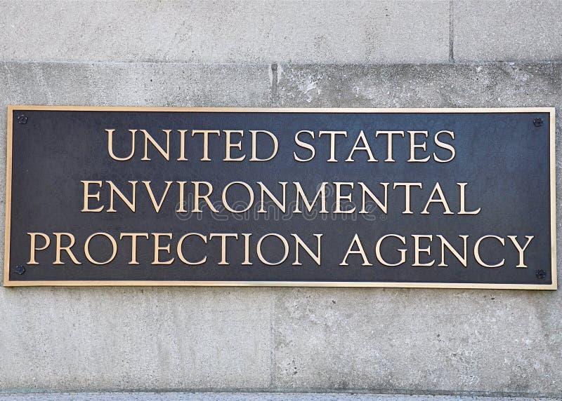 Het teken van het Agentschap van de Milieubescherming stock foto