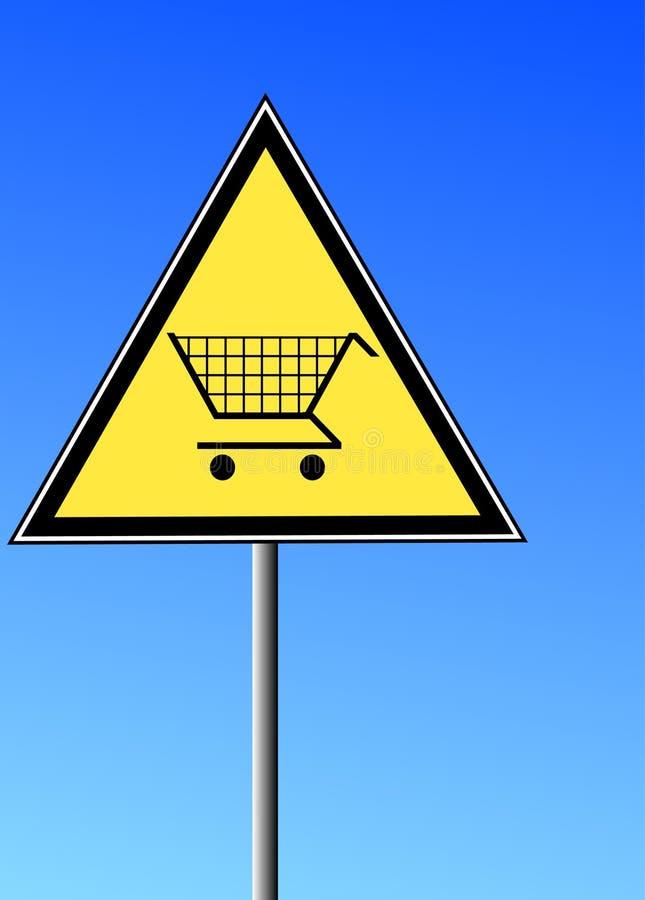 Het teken van het boodschappenwagentje vector illustratie