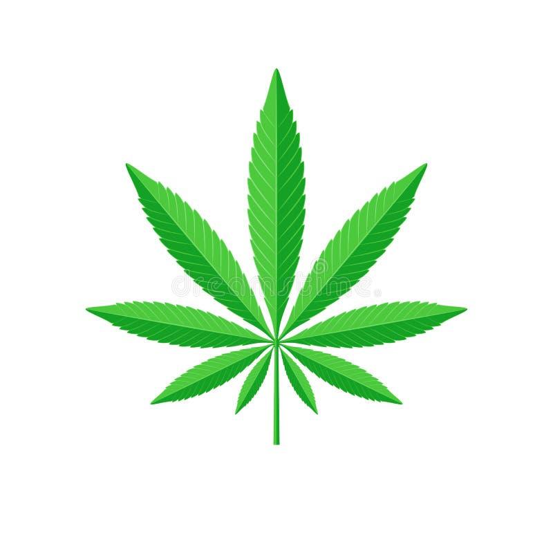 Het teken van het cannabisblad stock illustratie