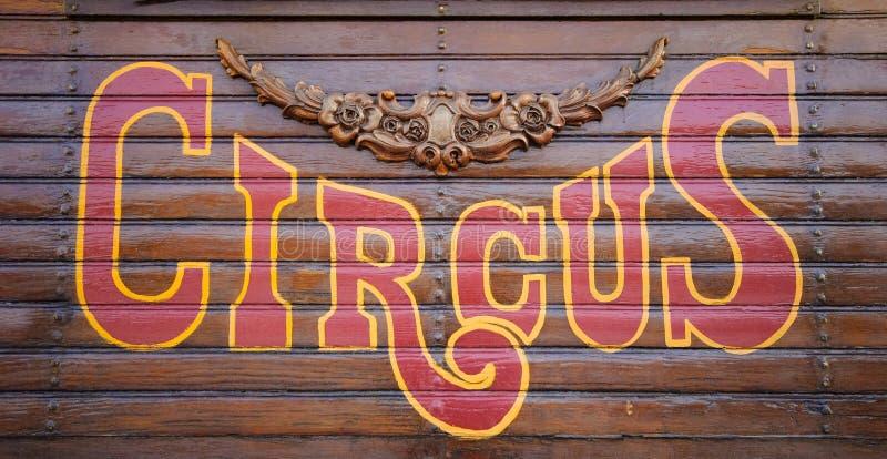 Het Teken van het circus stock fotografie