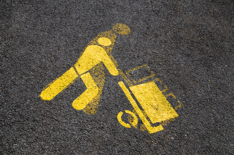Het teken van het de vrachtparkeren van de vrachtwagen stock foto's