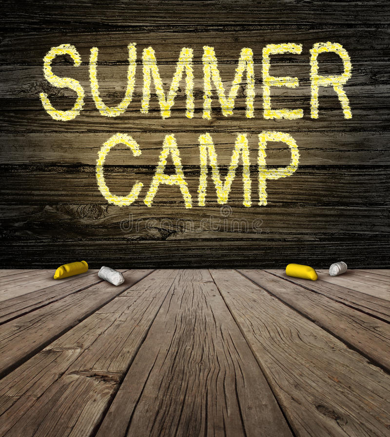 Het Teken van het de zomerkamp stock illustratie