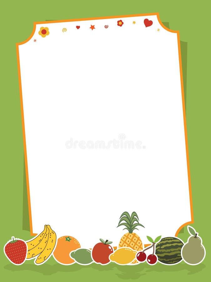 Het teken van het fruit stock illustratie