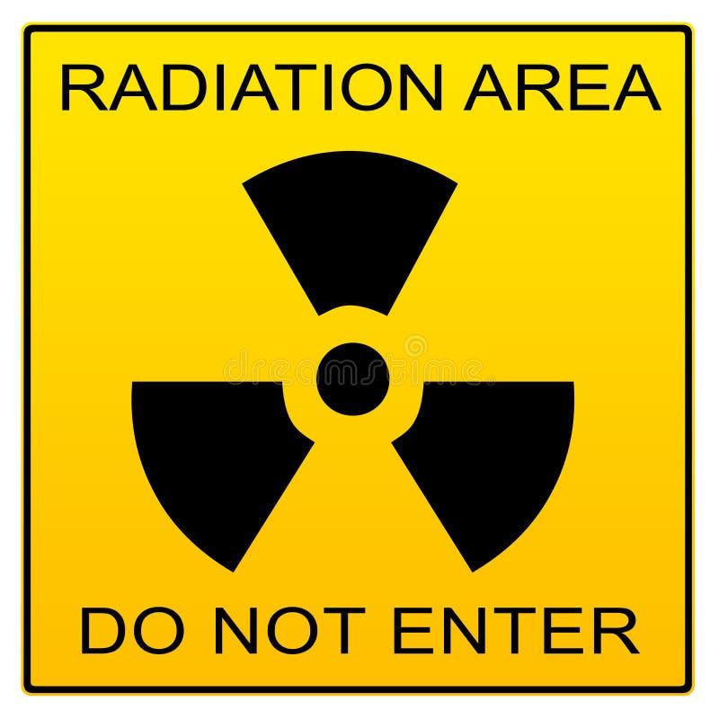 Het Teken van het Gebied van de straling stock illustratie