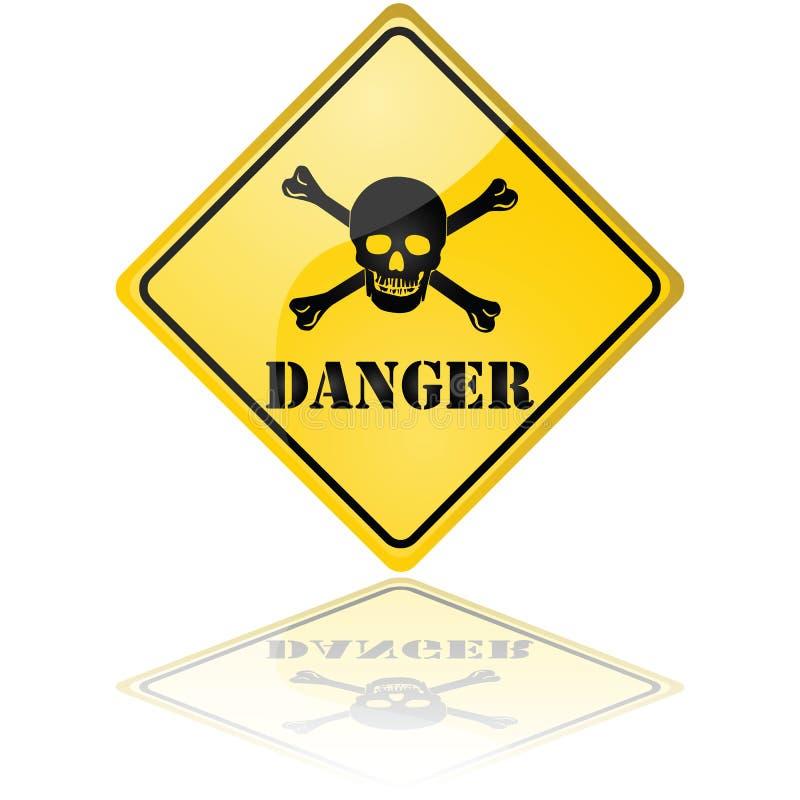 Het teken van het gevaar vector illustratie