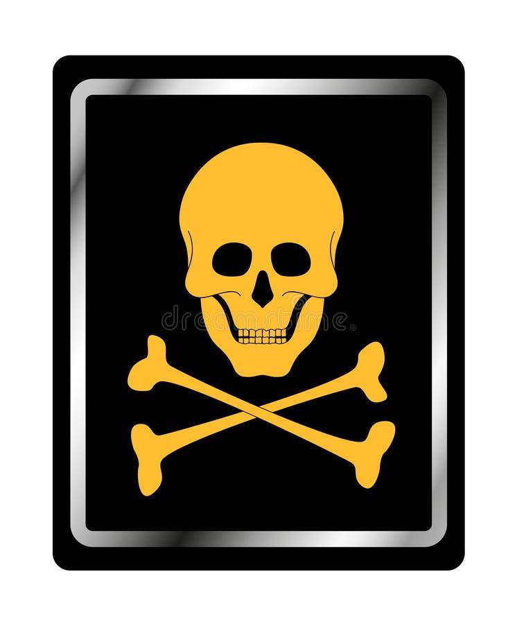 Het teken van het gevaar met schedelsymbool vector illustratie