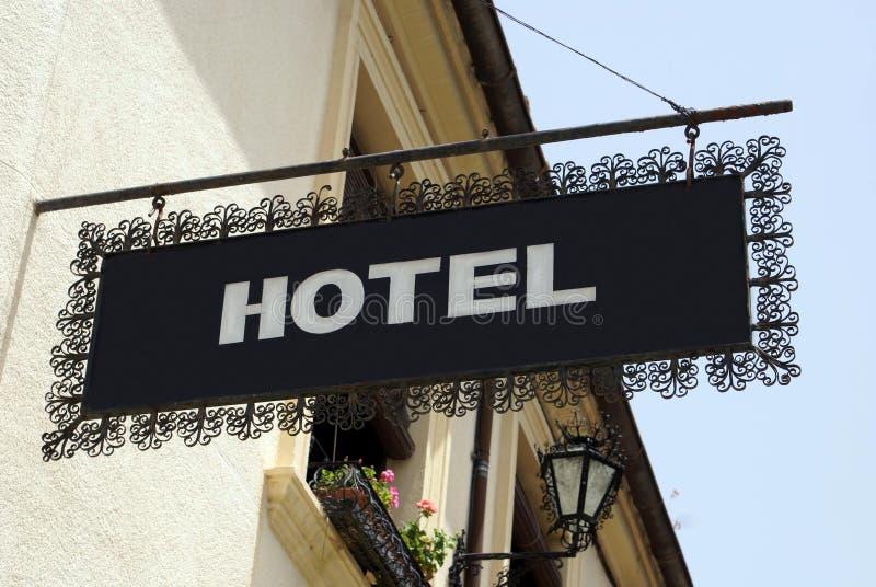 Het teken van het hotel hotel teken stock foto's