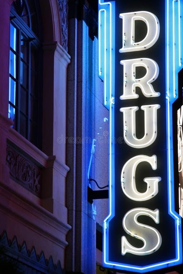 Het Teken van het Neon van de drug royalty-vrije stock foto