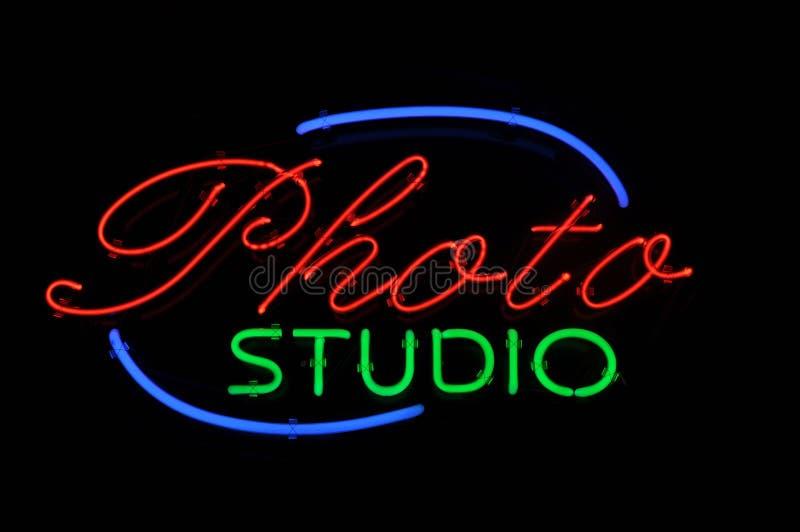 Het Teken van het Neon van de Studio van de foto royalty-vrije stock afbeeldingen