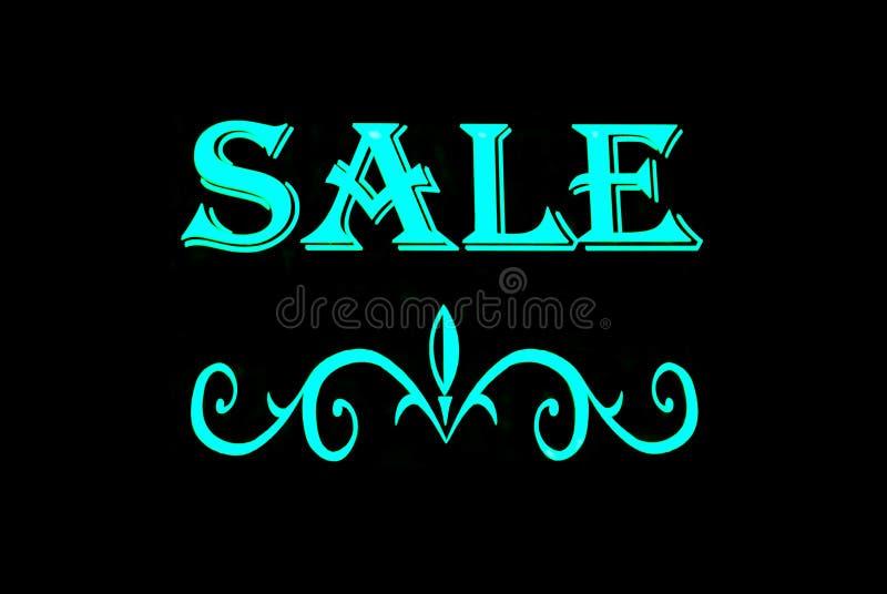 Het Teken van het Neon van de verkoop stock afbeeldingen