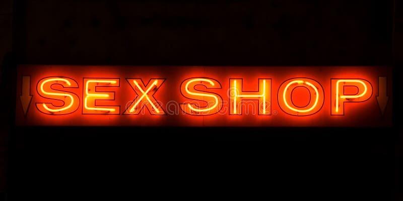 Het Teken van het Neon van de Winkel van het geslacht royalty-vrije stock fotografie