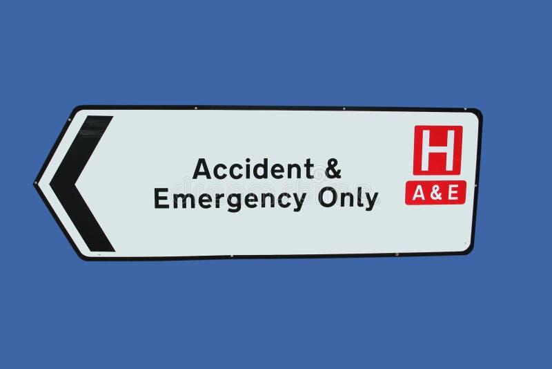 Het teken van het ongeval en van de Noodsituatie stock fotografie