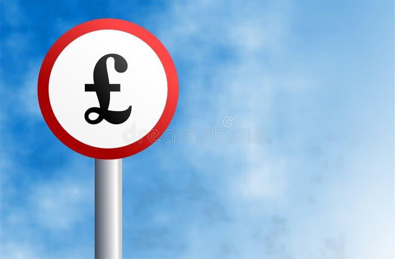 Het teken van het pond royalty-vrije illustratie