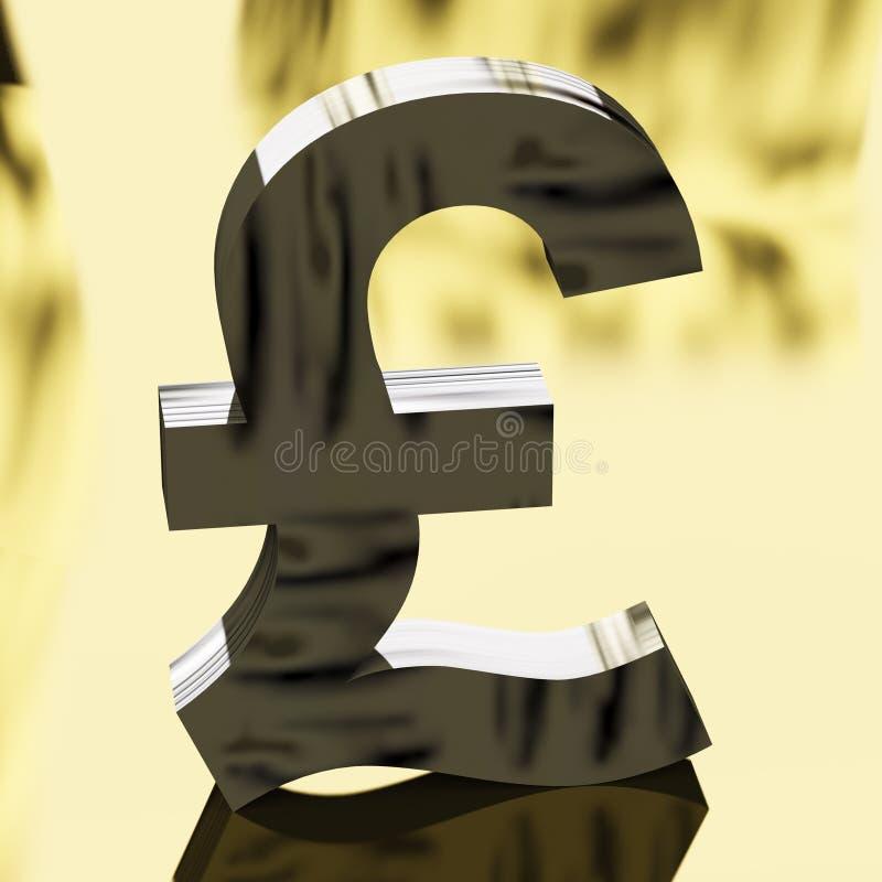 Het Teken van het pond als Symbool voor Geld of Contant geld royalty-vrije illustratie