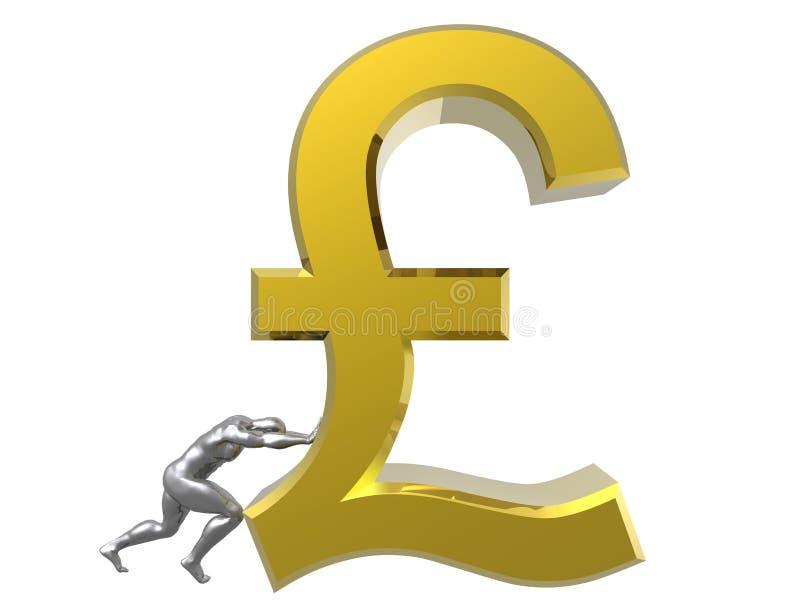Het teken van het pond Sterling royalty-vrije illustratie