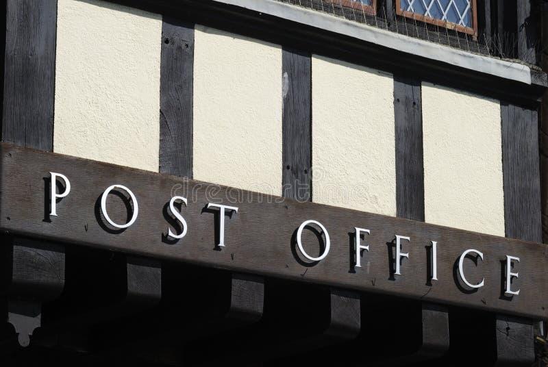 Het teken van het postkantoor. Arundel. Sussex. het UK royalty-vrije stock fotografie