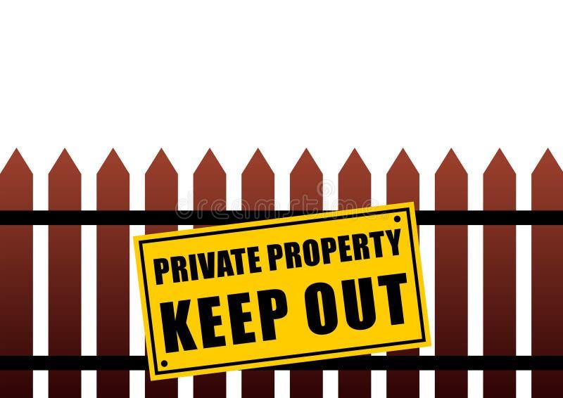 Het teken van het privé-bezit vector illustratie