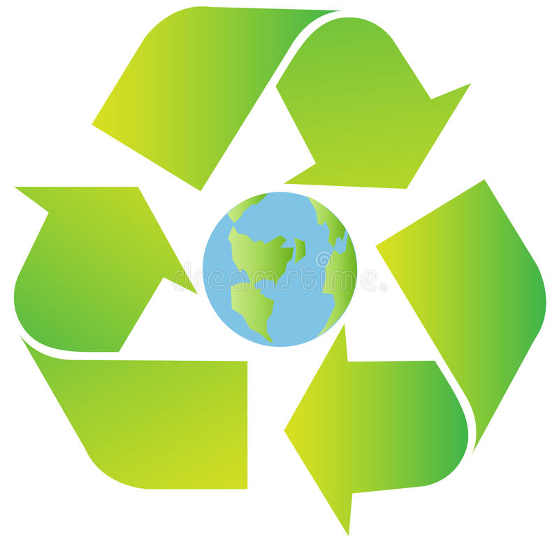 Het teken van het recycling stock illustratie