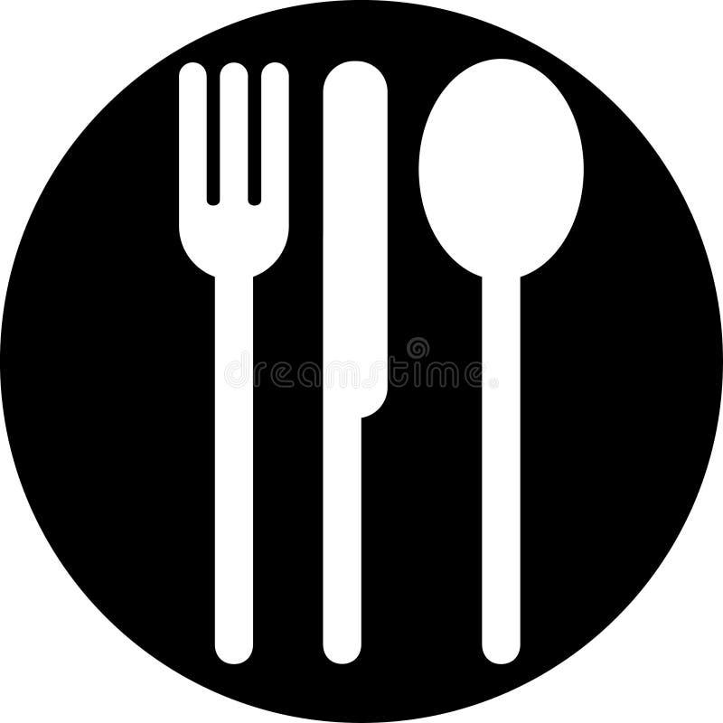 Het Teken van het restaurant royalty-vrije illustratie