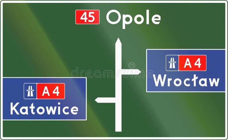 Het Teken van het richtingsdiagram in Polen stock illustratie