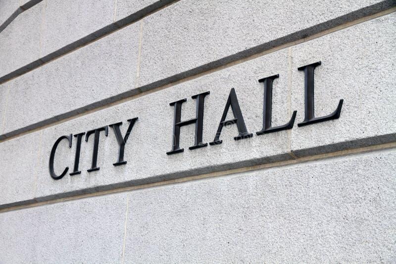 Het Teken van het stadhuis royalty-vrije stock afbeeldingen