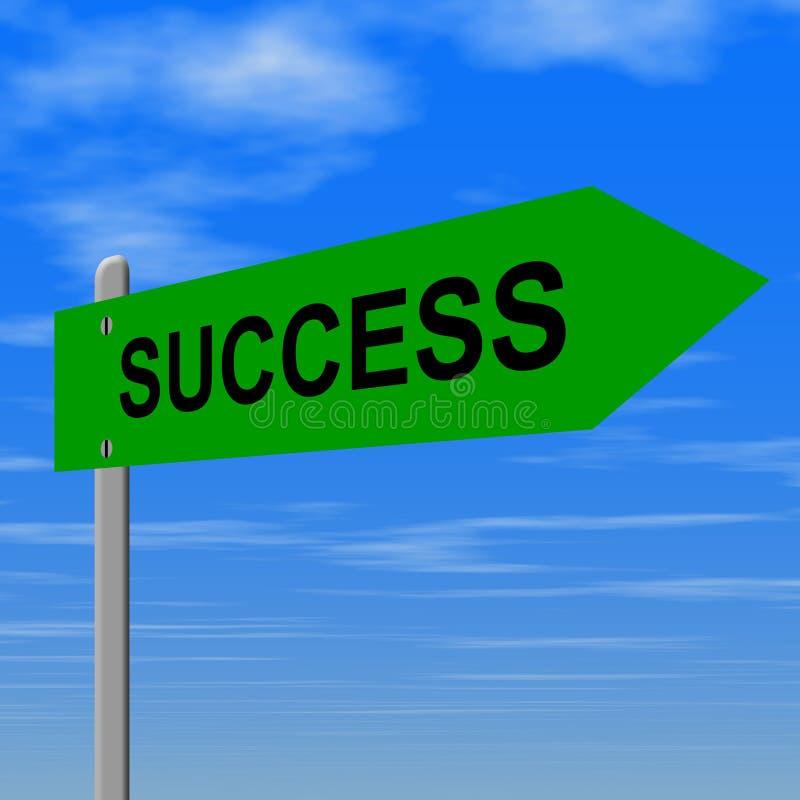 Het teken van het succes stock illustratie