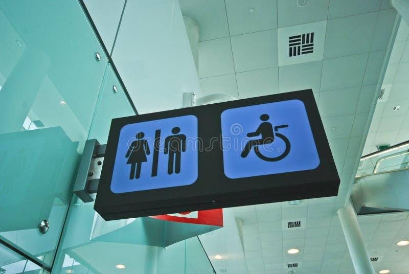 Het teken van het toilet royalty-vrije stock foto