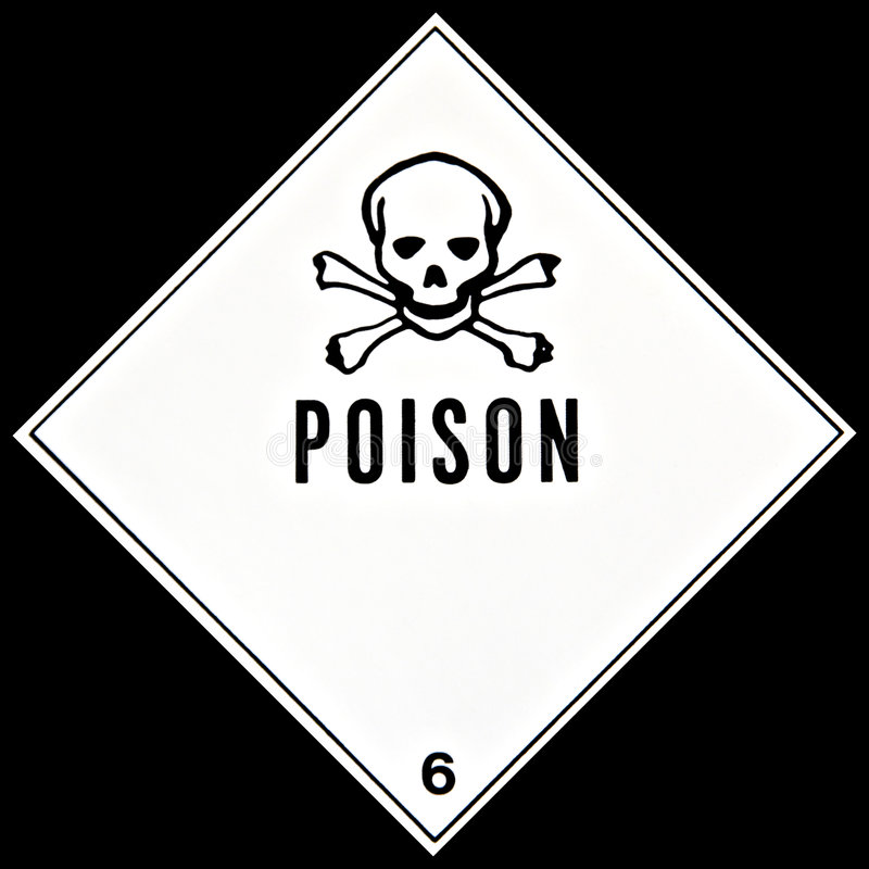 Het Teken van het vergift royalty-vrije stock afbeeldingen