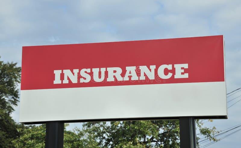 Het Teken van het verzekeringsaanplakbord stock foto
