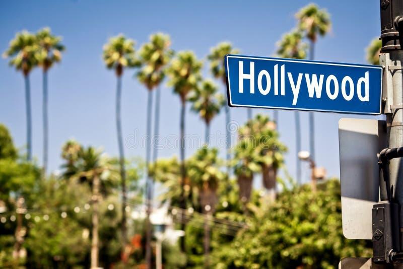 Het teken van Hollywood in La stock foto