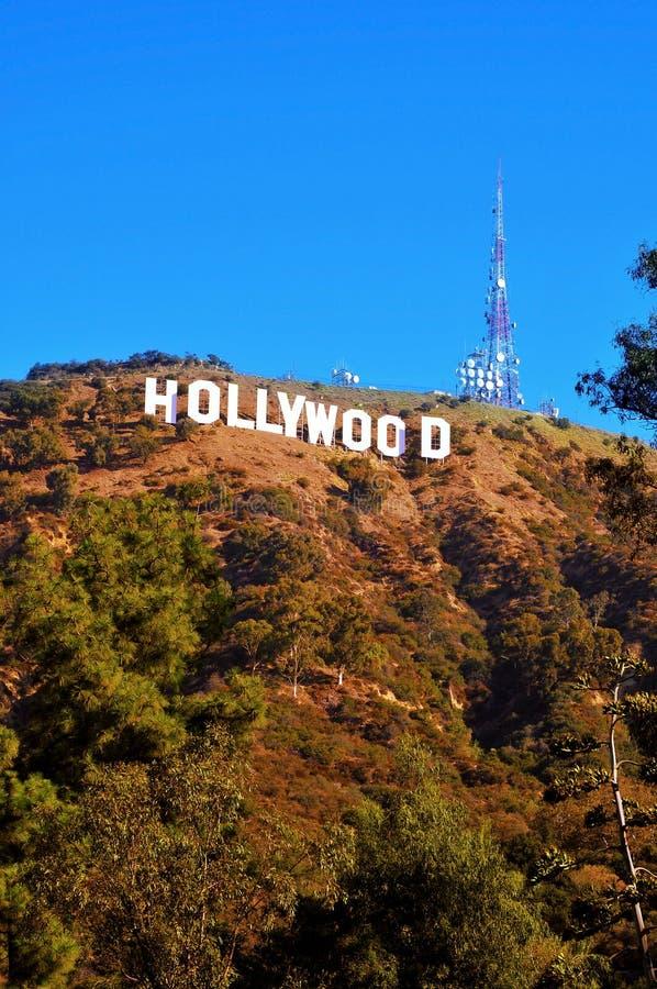 Het teken van Hollywood in Onderstel Lee, Los Angeles stock afbeeldingen