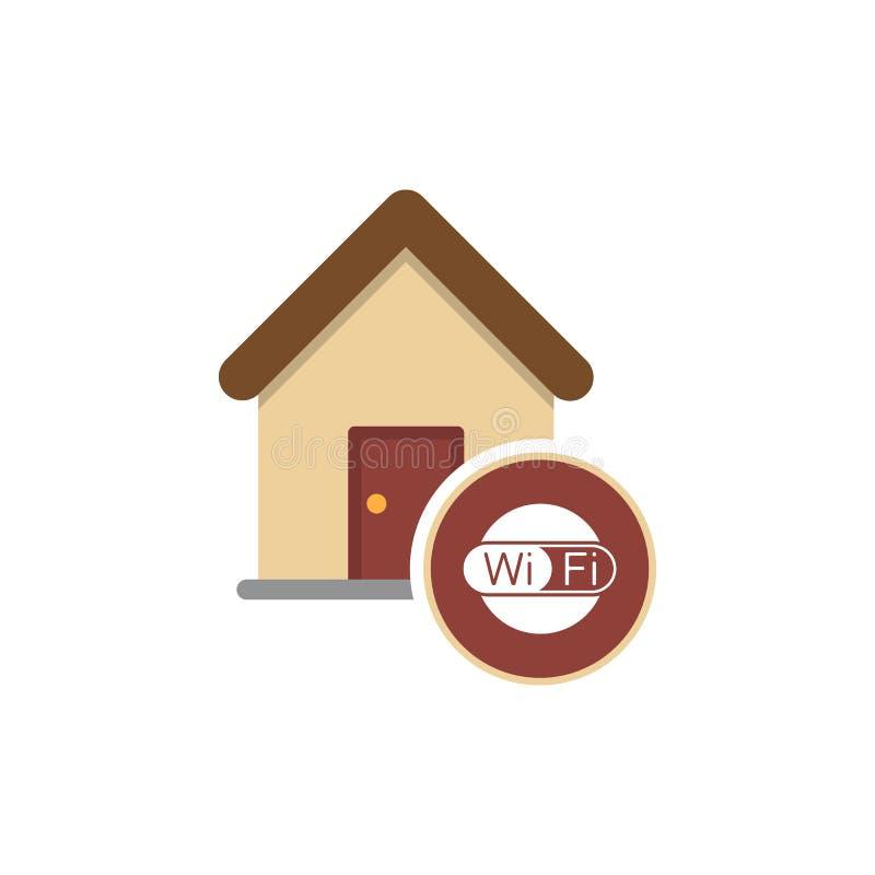 Het teken van huiswifi Symbool wi-FI Draadloos Netwerkpictogram De streek van WiFi stock illustratie