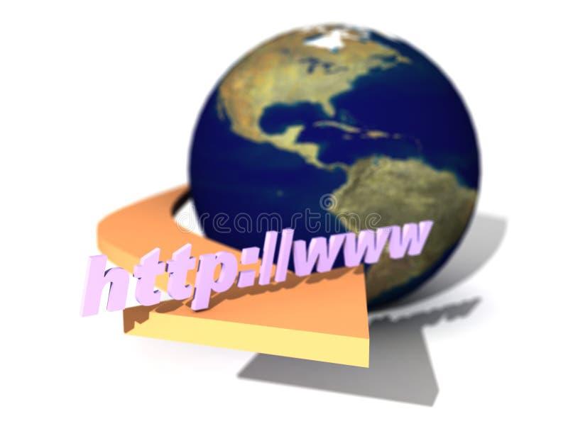 Het Teken van Internet stock illustratie