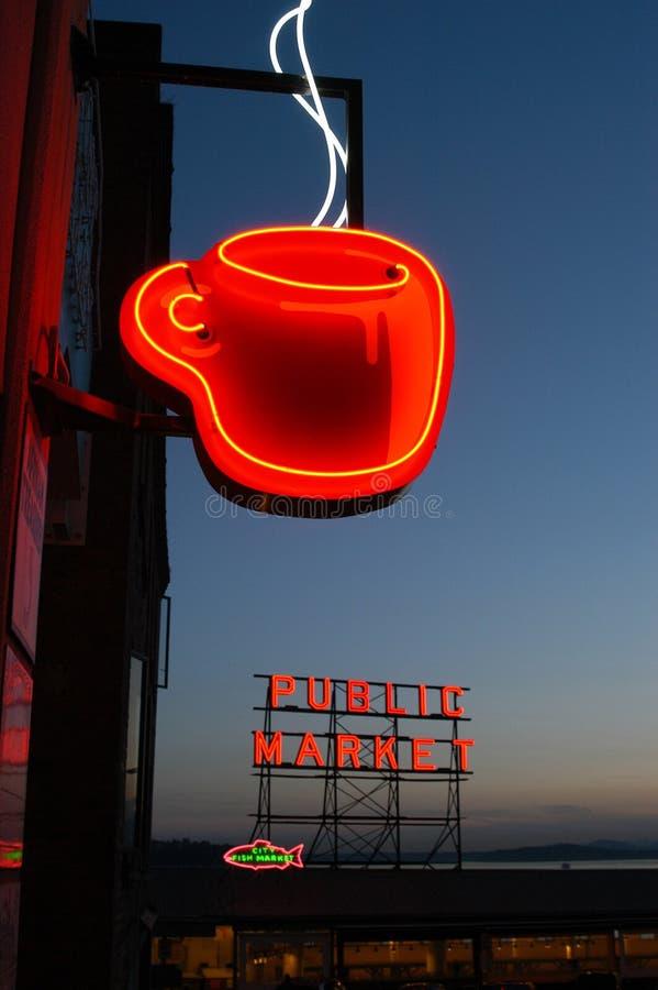 Het teken van Java van het neon stock foto's