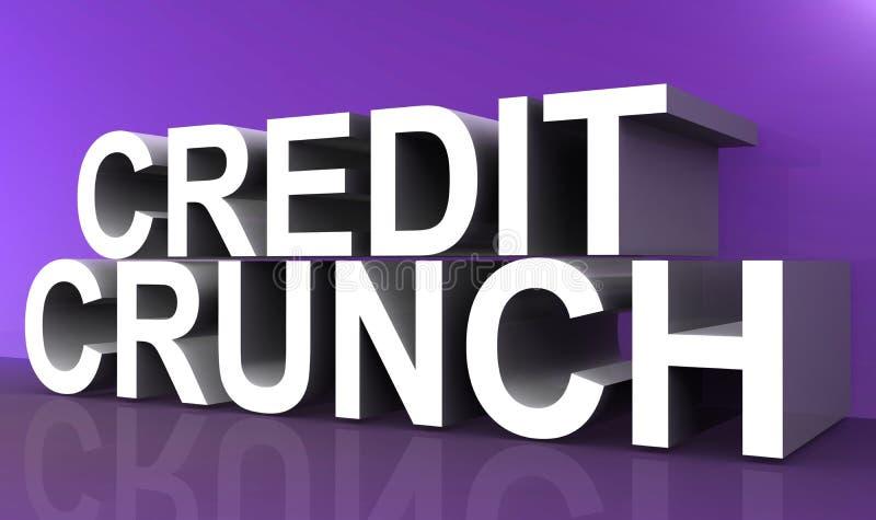 Het teken van het kredietkraken vector illustratie