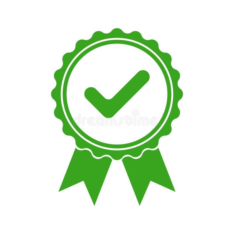 Het teken van het kwaliteitsproduct Gelijkesymbool vector illustratie