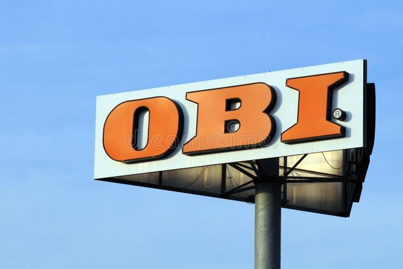 Het teken van Obi stock foto