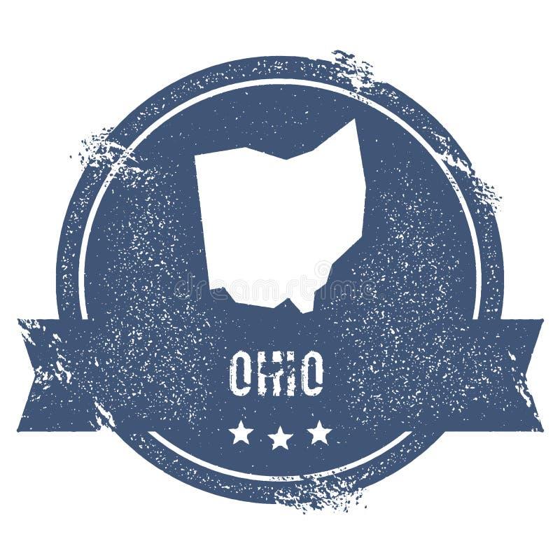 Het teken van Ohio stock illustratie