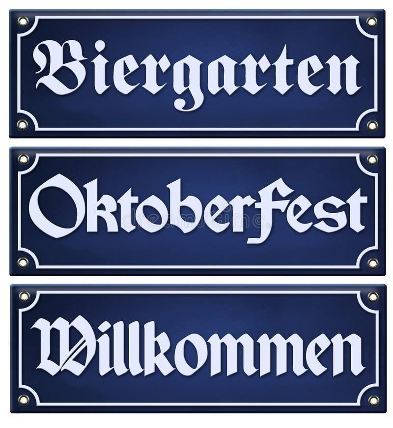 Het Teken van Oktoberfestbiergarten vector illustratie