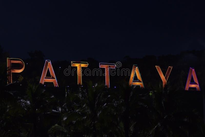 Het teken van Pattaya stock afbeelding