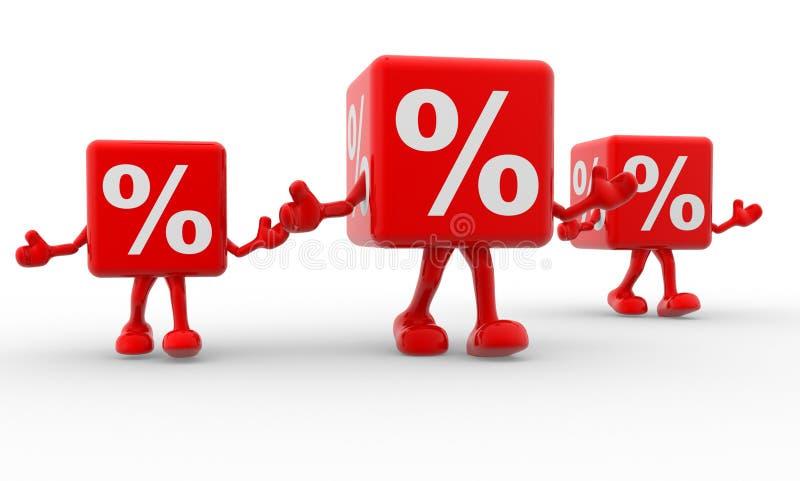Het teken van percenten stock illustratie