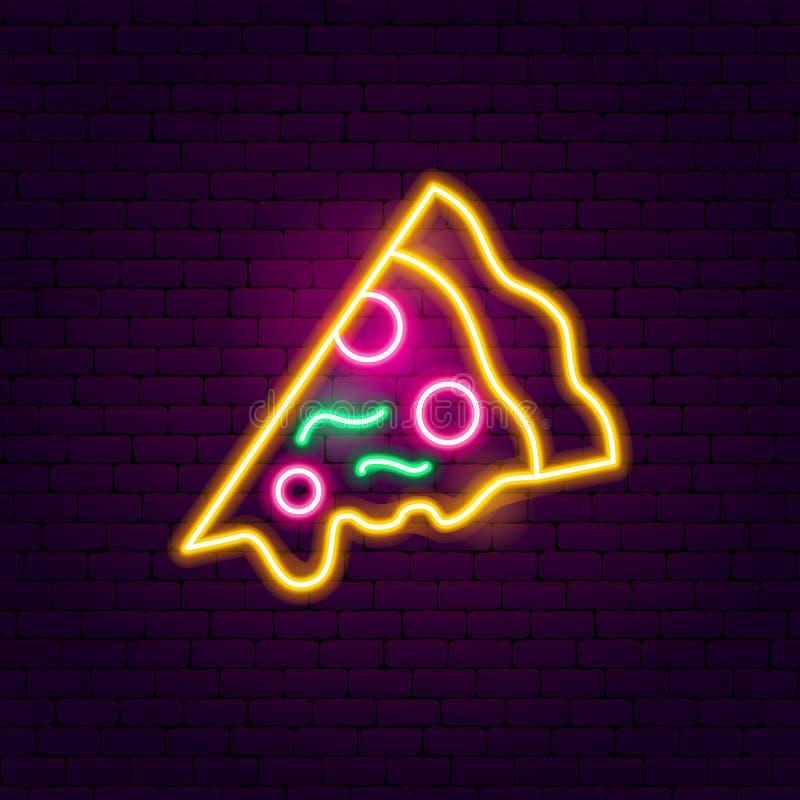 Het Teken van het pizzaneon stock illustratie