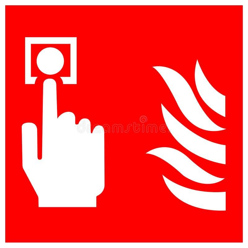 Het Teken van het het Puntsymbool van de brandalarmvraag isoleert op Witte Achtergrond, Vectorillustratie EPS 10 royalty-vrije illustratie